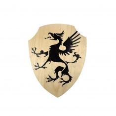 Bouclier en bois courbé : Dragon