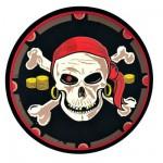 Bouclier en mousse historique : Pirate nouveau modèle