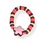 Bracelet parure fleur rose