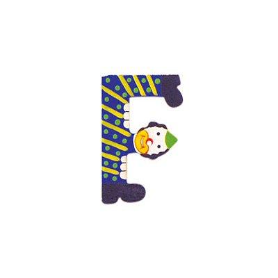 Lettre clown en bois : F - Coin-05000F