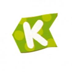 Lettre volante en bois : K