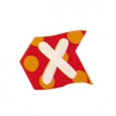 Lettre volante en bois : X