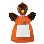 Marionnette à main animaux : Poule rousse