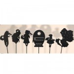 Marionnettes à ombres Set de 6 pièces : Chaperon rouge