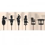 Marionnettes à ombres Set de 6 pièces : Guignol