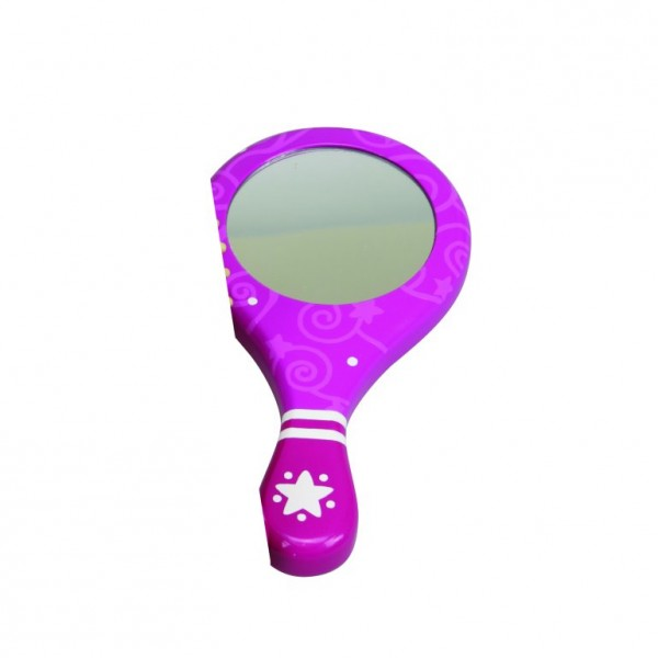Miroir à main Dauphin rose - Coin-24452