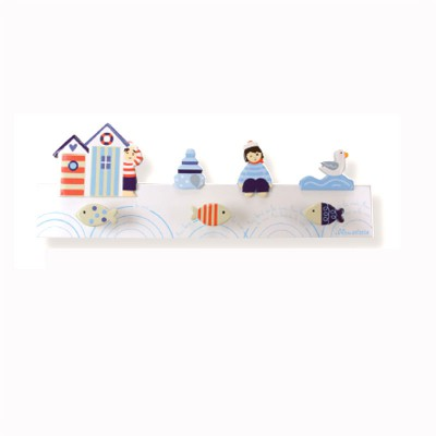 porte manteau bord de mer blanc jeux et jouets le coin des enfants avenue des jeux. Black Bedroom Furniture Sets. Home Design Ideas