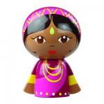 Poupée du monde en bois Navina l'indienne
