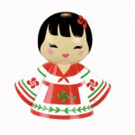 Poupée en bois Kokefrance : Maité la basque