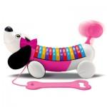 Jouet à tirer électronique : Mon chien ABC rose