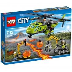 Lego 60123 City : L'hélicoptère d'approvisionnement du volcan