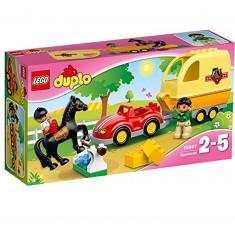 Lego 10807 Duplo : La remorque à chevaux