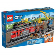 Lego 60098 City : Le train de marchandises rouge