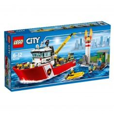 Lego 60109 City : Le bateau des pompiers