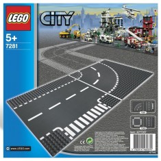 Lego 7281 City : Virage et croisement