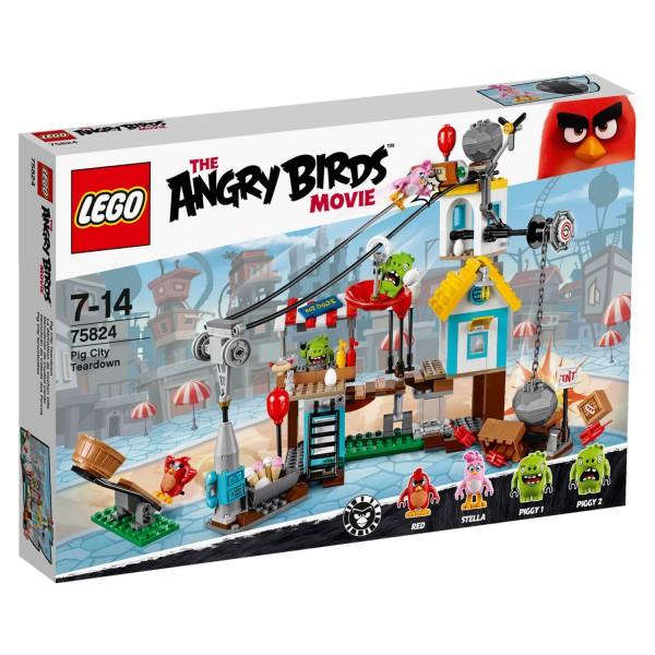 Lego 75824 Angry Birds : La démolition de Cochon Ville - Lego-75824