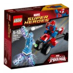 Lego 76014 Super Heroes : Spiderman : Spider-Trike contre Electro