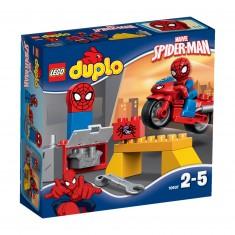 Lego Duplo Super Heroes 10607 : L'atelier de la moto-araignée de Spider-Man
