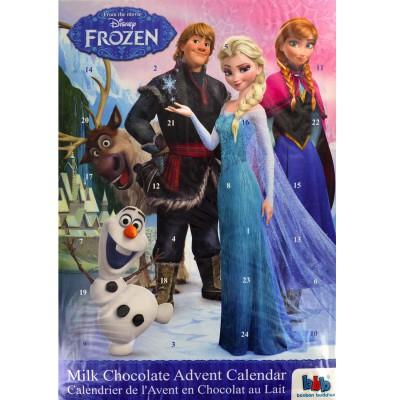 Calendrier de l 39 avent en chocolat au lait la reine des - Calendrier de l avent en bonhomme de neige ...