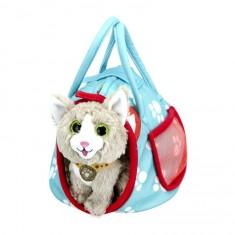 Coffret sac couffin bleu et peluche Spirit le chat norvégien