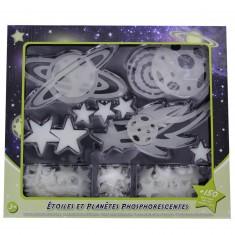 Décorations : Etoiles et planètes phosphorescentes