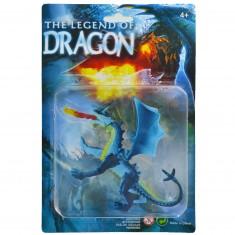Figurine Dragon : bleu avec crochet à la queue