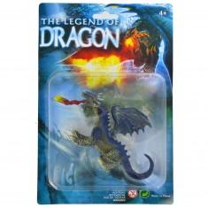 Figurine Dragon : bleu marine à deux têtes