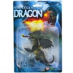 Figurine Dragon : noir à deux têtes