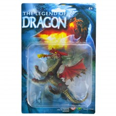 Figurine Dragon : noir avec cornes