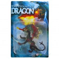 Figurine Dragon : noir avec crochet à la queue