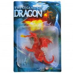 Figurine Dragon : rouge à deux têtes