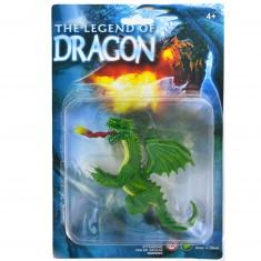 Figurine Dragon : vert à deux têtes
