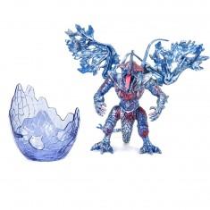 Figurine Dragon avec Oeuf : Rouge et bleu au coeur rouge