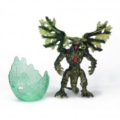 Figurine Dragon avec Oeuf : Vert au coeur rouge