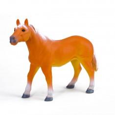 Figurine souple cheval orange à la crinière blanche
