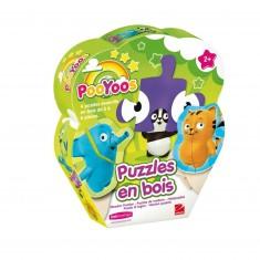 Puzzle Pooyoos : 4 puzzles en bois