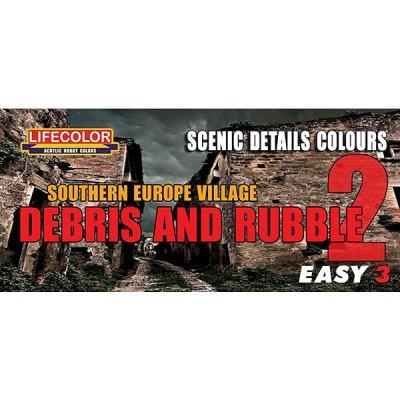 Kit de peintures - Easy 3 : Briques & Tuiles set 2 - Lifecolor-EMS08