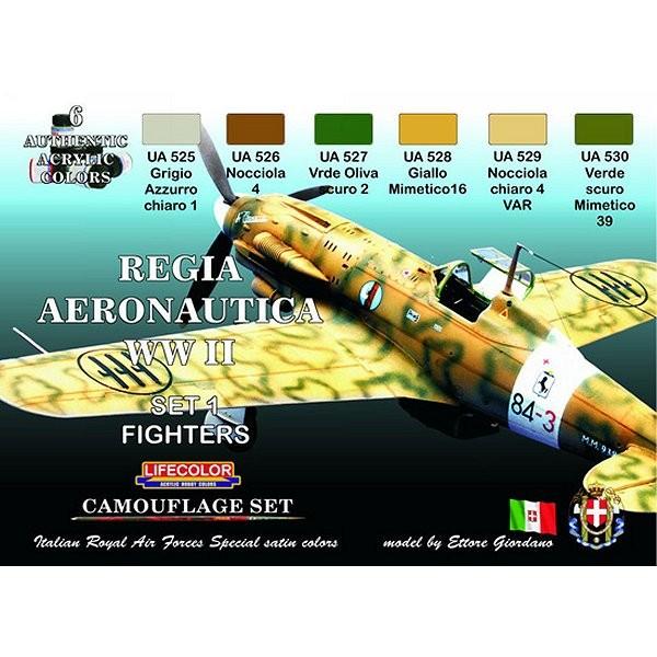 Kit de peintures - Set 1 Regia aeronautica WWII - Lifecolor-CS19