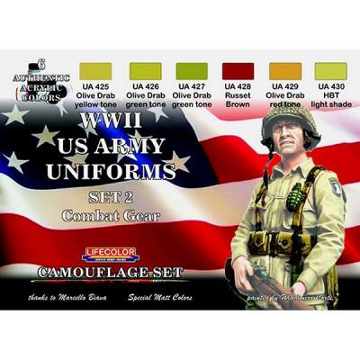 Kit de peintures - Set 2 uniformes US WWII - Lifecolor-CS18