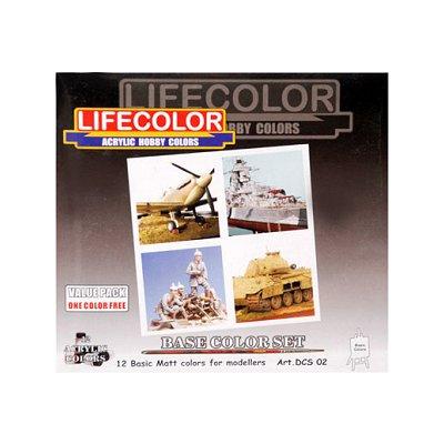 Kit de peintures - Teintes de base - Lifecolor-DCS02-DSC02