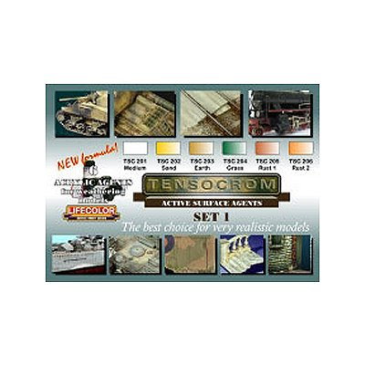 Kit de peintures - Teintes Tensocrom Set n°1 - Lifecolor-TSC01-ETEN1
