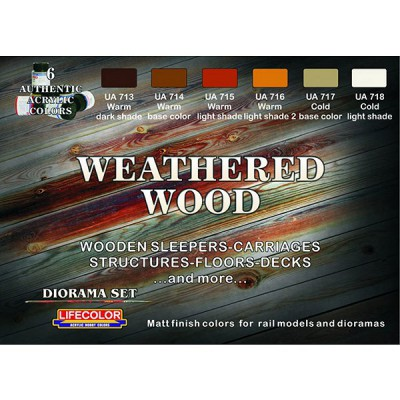 Kit de peintures - Weathered Wood - Lifecolor-CS20