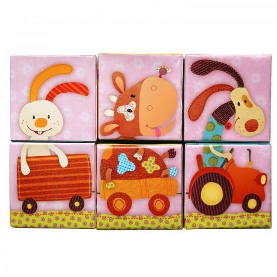 Cubes Puzzles Nicky le canard : Cub'Uzzle - Lilliputiens-86411