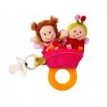 Hochet de dentition/Marionnettes à doigts : Liz la coccinelle