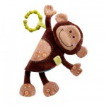 Imagier avec hochet Basile le singe