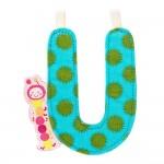 Lettre décorative : Juliette la chenille : Lettre U