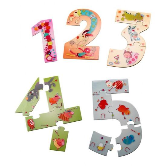 Puzzle Recto/Verso 15 pièces : 12345 Puzzle ! - Lilliputiens-86433