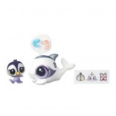Figurine Petshop : Figurines à personnaliser : Dauphine le dauphin & Ocean Tuxley