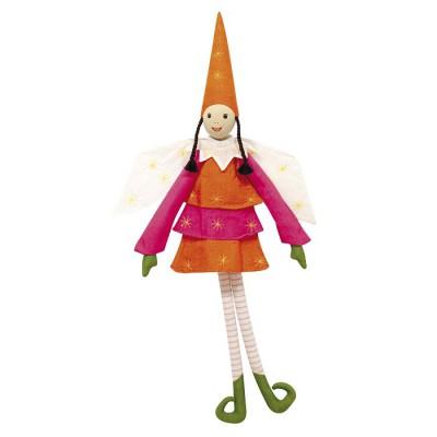 Poupée de chiffon La fine fleur des elfes : Berlingote orange - OiseauBateau-ELF11L1-16