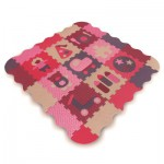 Tapis en mousse rose